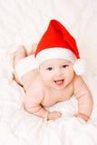 婴孩圣诞节帽子 库存图片