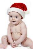 婴孩圣诞节微笑 免版税库存图片