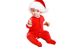 婴孩圣诞节 免版税库存图片