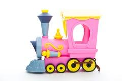 婴孩塑料颜色玩具火车演播室质量 库存图片