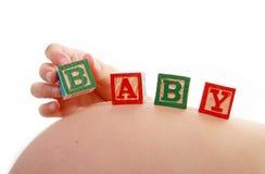 婴孩多维数据集孕妇 免版税库存图片