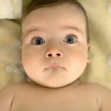 婴孩大眼睛s 免版税库存照片