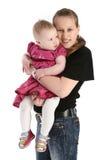 婴孩她的婴儿母亲 库存图片