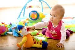婴孩家使用 免版税库存照片