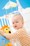 婴孩家使用 免版税图库摄影
