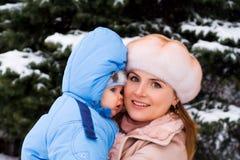 婴孩小母亲 免版税库存图片