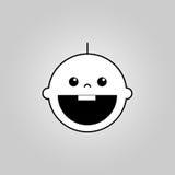 婴孩微笑传染媒介象 库存图片