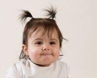 婴孩微笑甜点 免版税库存照片
