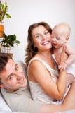 婴孩快乐的父项 库存照片