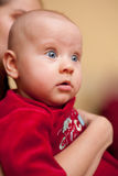 婴孩惊奇了 库存图片