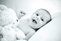 婴孩愉快微笑 图库摄影