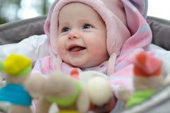 婴孩愉快微笑 库存照片