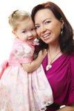 婴孩愉快的母亲照片 库存图片