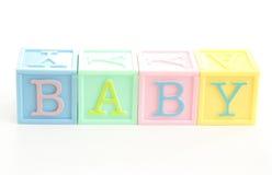 婴孩我的字 库存图片