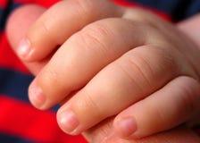 婴孩手指 库存照片