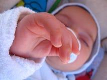 婴孩手指 图库摄影