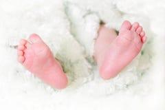 婴孩接近的英尺 库存图片