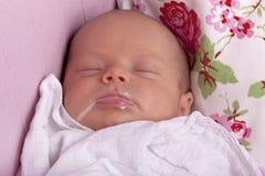 婴孩提供新出生 免版税图库摄影