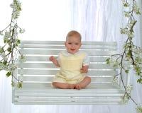 婴孩摇摆 库存照片