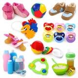 婴孩收集货物 免版税库存图片