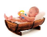 婴孩放松 库存图片