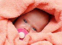 婴孩新出生的soother 库存图片