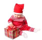 婴孩时尚被隔绝的裘皮帽 库存照片