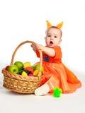 婴孩服装灰鼠佩带 库存照片