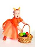 婴孩服装灰鼠佩带 免版税库存照片