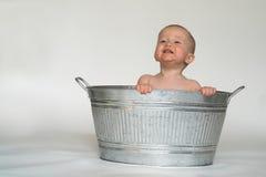 婴孩木盆 免版税库存图片