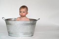 婴孩木盆 免版税库存照片
