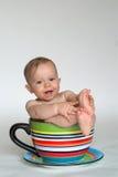 婴孩杯子 库存照片