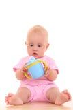 婴孩杯子 库存图片