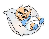 婴孩枕头 库存照片