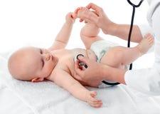 婴孩核对 图库摄影
