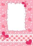 婴孩框架粉红色 库存图片