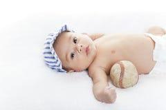 婴孩棒球运动员 免版税库存照片