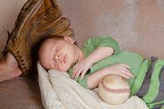 婴孩棒球 库存照片