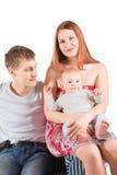 婴孩椅子人坐的妇女 库存图片