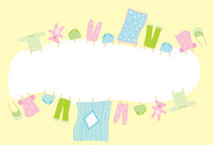 婴孩横幅 免版税图库摄影