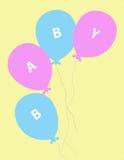 婴孩气球 免版税库存照片