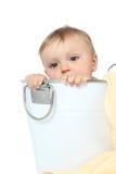 婴孩沐浴 免版税库存图片