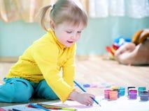 婴孩油漆 库存照片