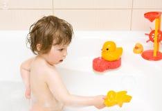 婴孩浴 图库摄影