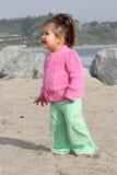 婴孩海滩 免版税图库摄影