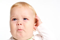 婴孩混淆 图库摄影