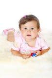 婴孩滑稽的女孩一点 图库摄影