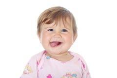 婴孩滑稽的女孩一点 库存照片