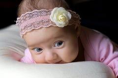 婴孩漂亮的孩子一点 库存照片