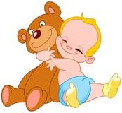 婴孩热情拥抱 库存图片